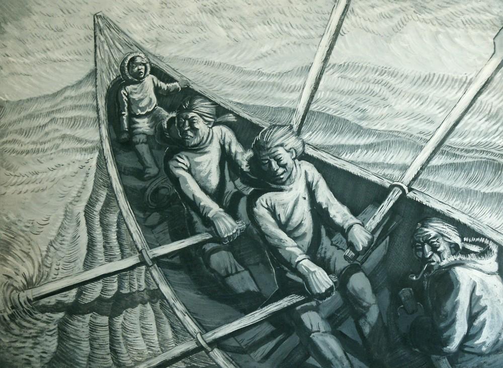 Выставка  Айгуль Байрамгуловой: иллюстрации к повести Чингиза Айтматова «Пегий пес