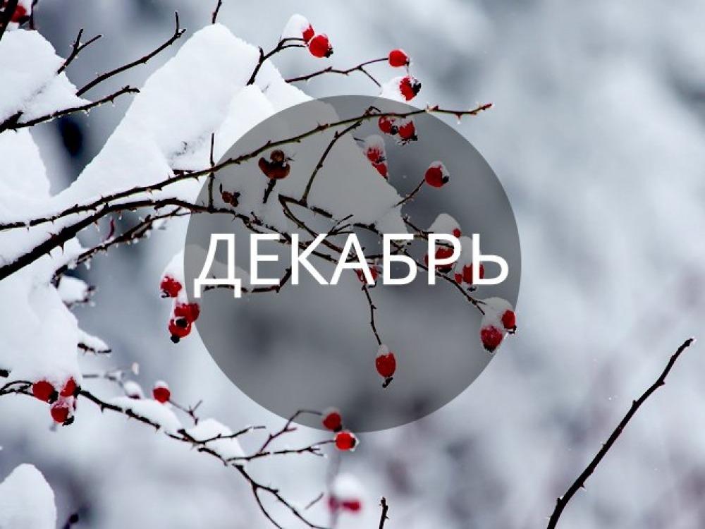 Репертуар на декабрь