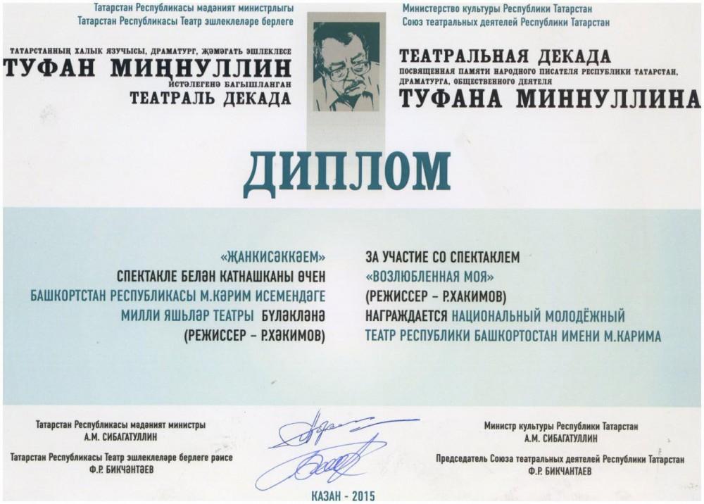 Театральная декада памяти Туфана Миннуллина