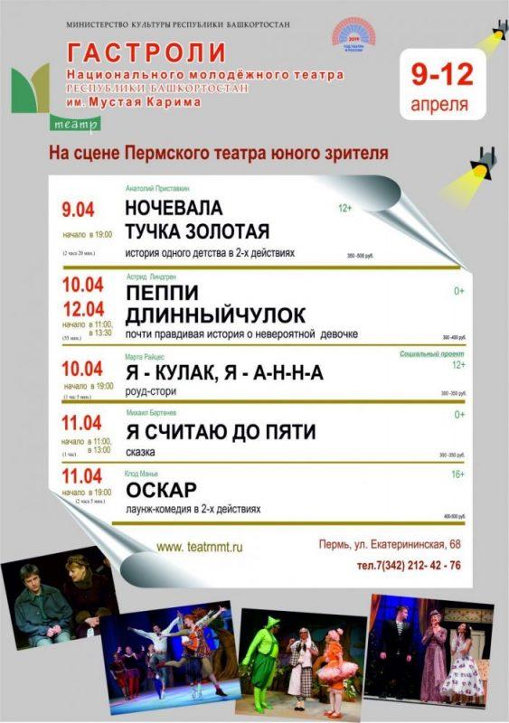 Русская труппа Национального молодёжного театра РБ им. М. Карима едет в Пермь на обменные гастроли